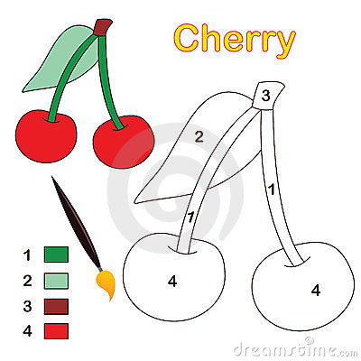 Color by number: cherry