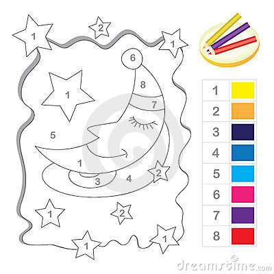Color by number game