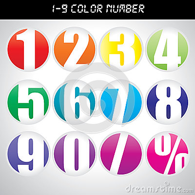 Free Color Number Icons Royalty Free Stock Image - 39910336