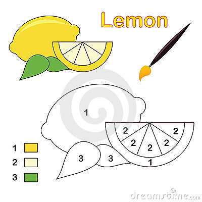 Color by number: lemon