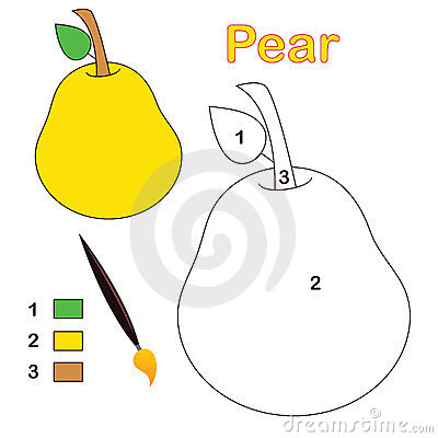 Color by number: pear