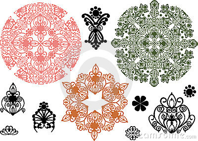 Color ornament elements collection