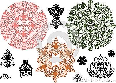 Color ornament elements collection