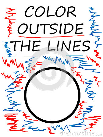 Color outside lines Stock Photo