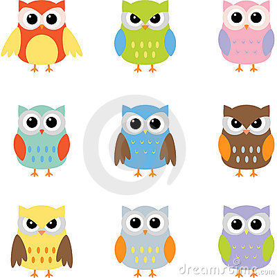 Owls color owls clip art by yulia87 on dreamstime - Color Owls Clip Art Royalty Free Stock Image Image 20022626