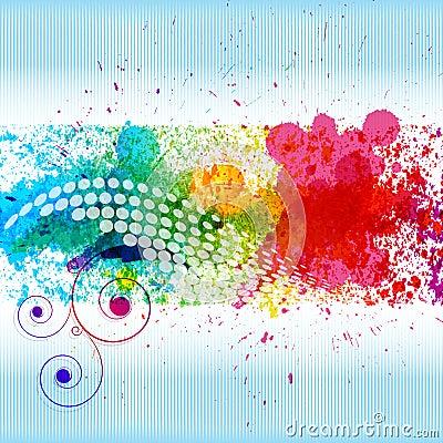 Free Color Paint Splashes. Stock Photo - 16538410