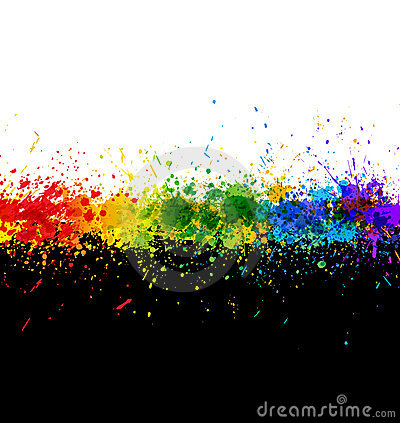 Free Color Paint Splashes. Gradient Background Royalty Free Stock Photography - 16801507