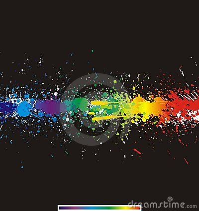 Free Color Paint Splashes. Gradient Vector Background Royalty Free Stock Photography - 8300817