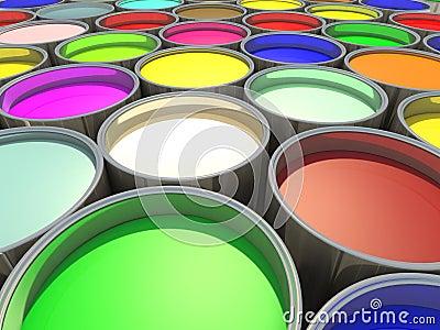 Color paint tank