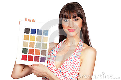 Color palette girl
