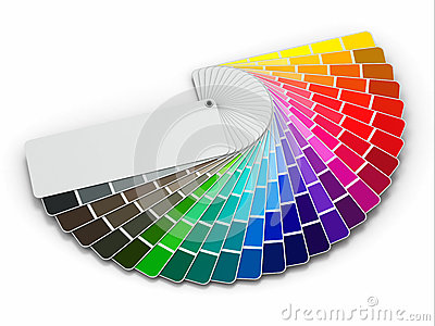 Color Palette Guide On White Background Royalty Free Stock ...