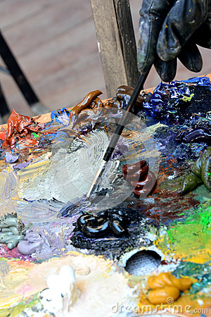 Color palette and painting