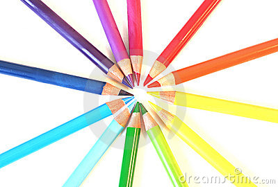 Color pancil rainbow circle