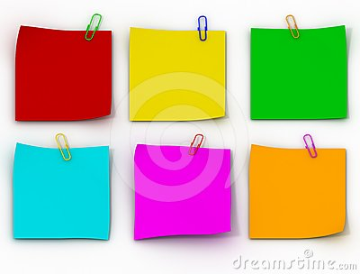 Color paper leaflets