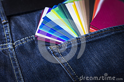 Color Paper Samples Stock Photography - Image: 25793262