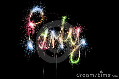 Color party word sparkler