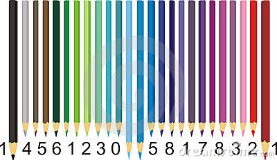 Color pencil barcode