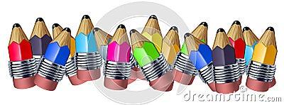 Color pencil border