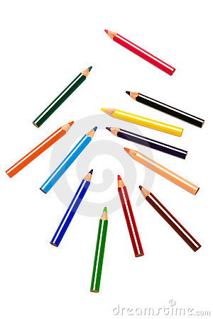 Free Color Pencils Royalty Free Stock Photos - 6801538