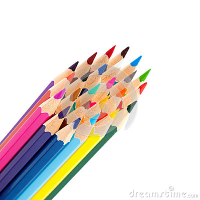 Color pencils as a bunch