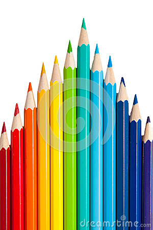 Color pencils as a peak or arrows