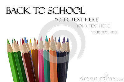 Color pencils with Back to School text