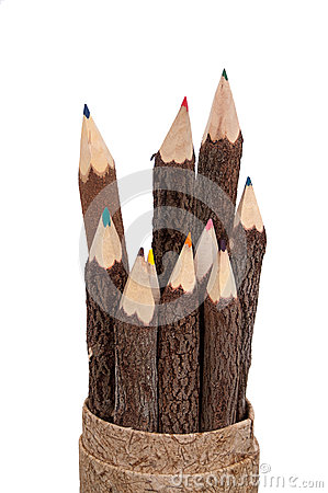 Free Color Pencils Carved From Wood Sticks Stock Photo - 27482560
