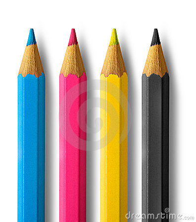 Free Color Pencils Cmyk Stock Photography - 19833872