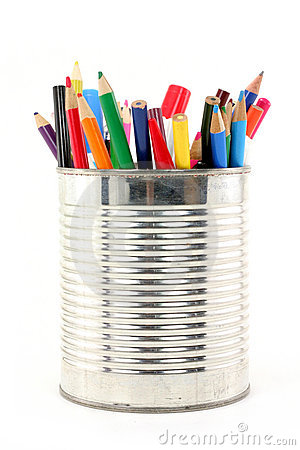 Free Color Pencils In Tin Royalty Free Stock Photo - 1346415