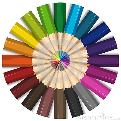 Free Color Pencils With Sharp Points Royalty Free Stock Photos - 100776068