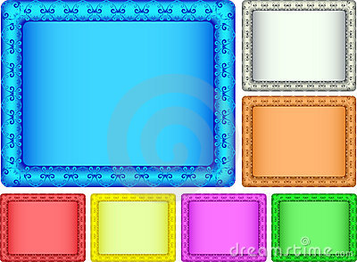 Color picture frame.