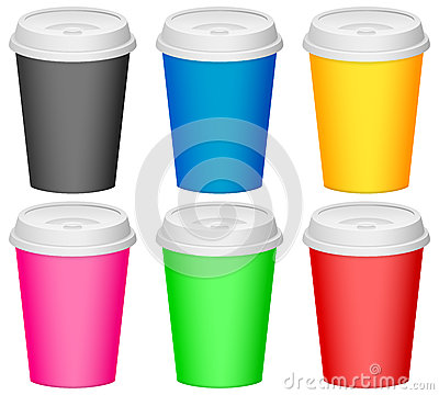 Color plastic cup