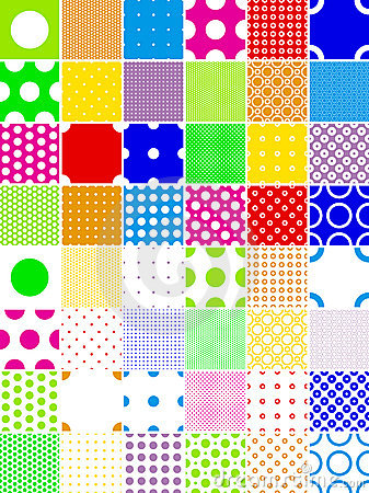 Color polka dot patterns