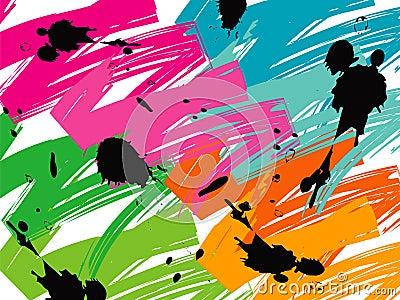 Color pop brush strokes