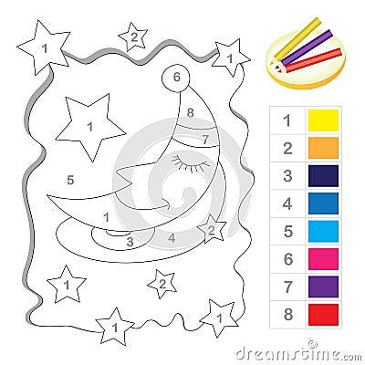 Color por el juego de número