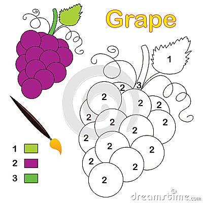 Color por número: uva