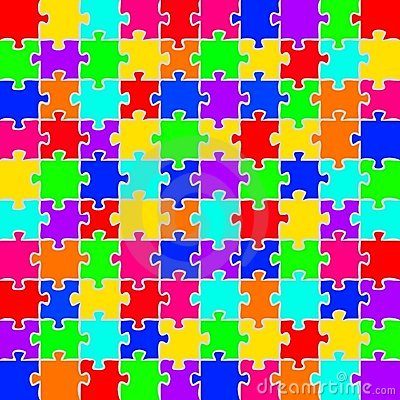 Color puzzles background