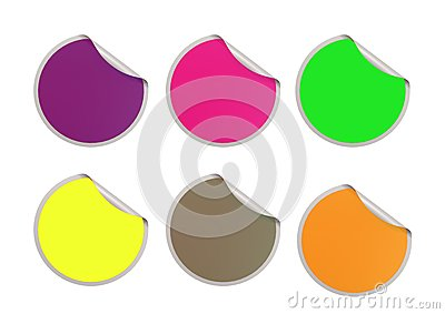 Color round sticker