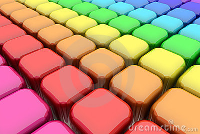 Color Rounded Cubes