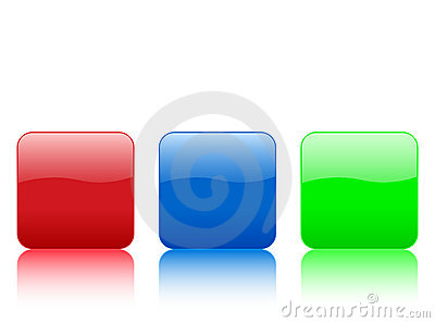Color rounded squares buttons