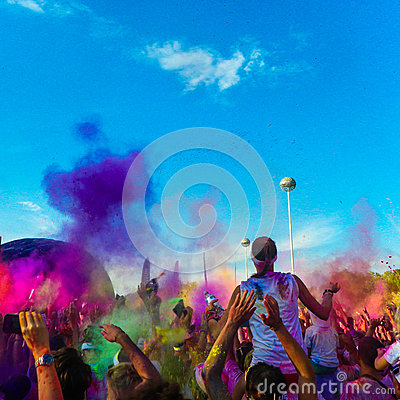 Free Color Run Crowd Stock Images - 85725844