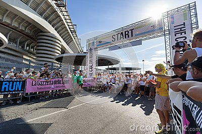 The Color Run 2013 in Milan, Italy Editorial Photo