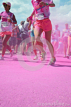The color run in Utrecht Editorial Stock Photo