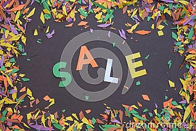 Color sale sign