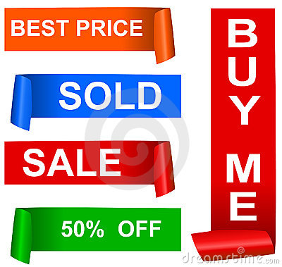 Color sale sticker set, vector