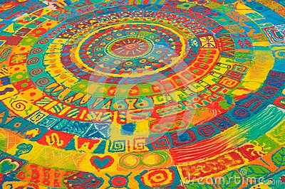 Color sand mandala