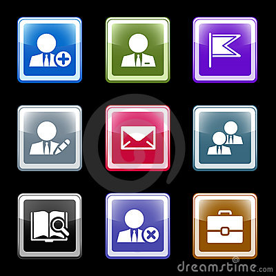 Color screen web icons, set 1