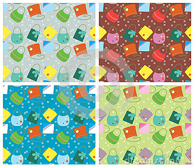 Color seamless pattern.Vector backgrounds with fas