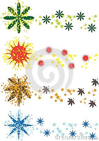 Color season symbols