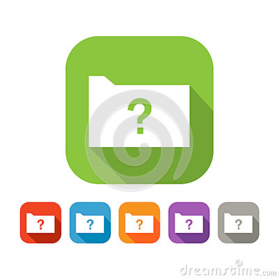 Free Color Set Of Flat Folder With Question Mark Stock Photo - 45032480